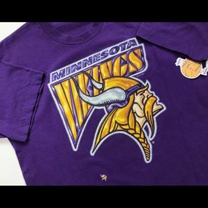 VINTAGE 90s MINNESOTA VIKINGS SHIRT SMALL S MENS